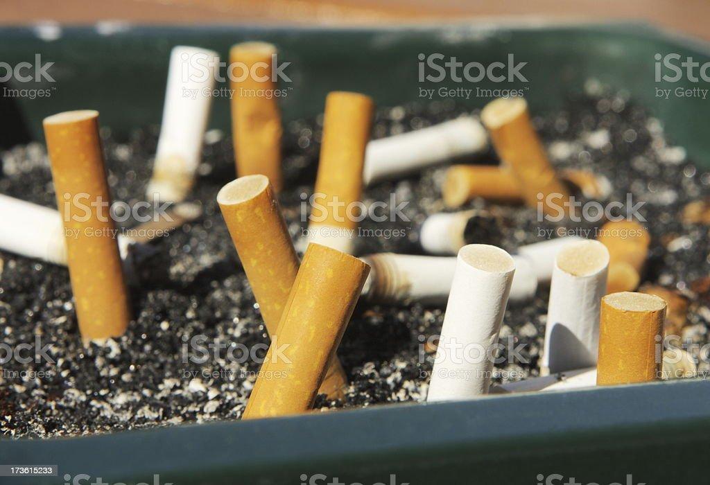 Cigarette Smoking Addiction Ashtray Butt royalty-free stock photo