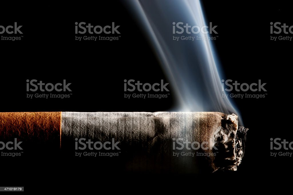 cigarette smoking royalty-free stock photo