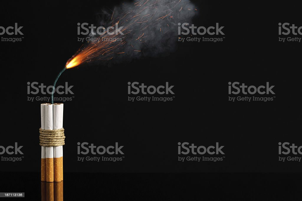 Cigarette Stick Of Dynamite, Smoking Risk stock photo