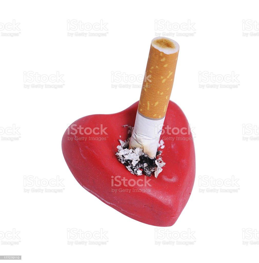 Cigarette stub royalty-free stock photo