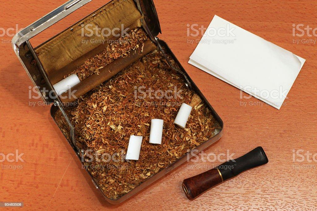 Cigarette Wrapping stock photo