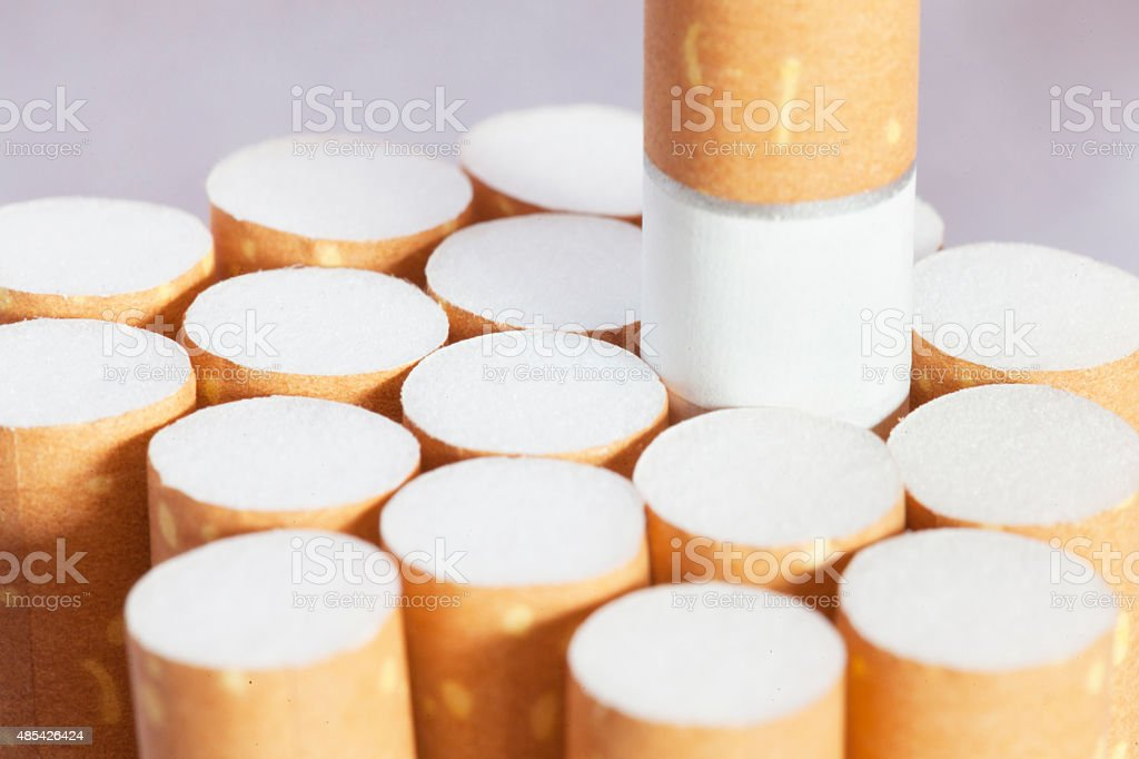 Cigarettes filter Background stock photo