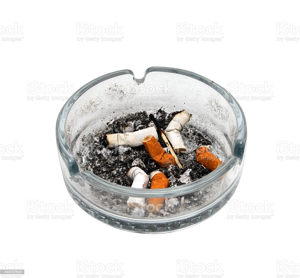 Cigarettes in an ashtray royalty-free stock photo