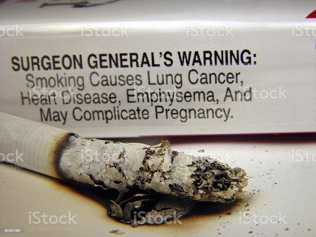 Cigarettes - Warning stock photo