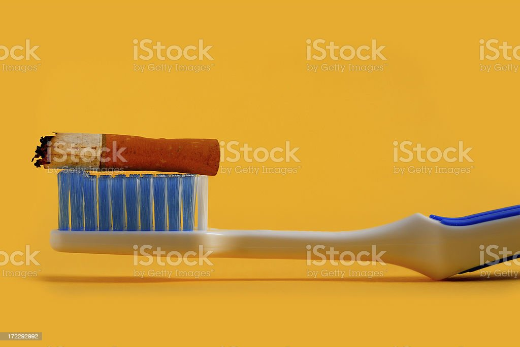 cigarettes_toothpaste royalty-free stock photo