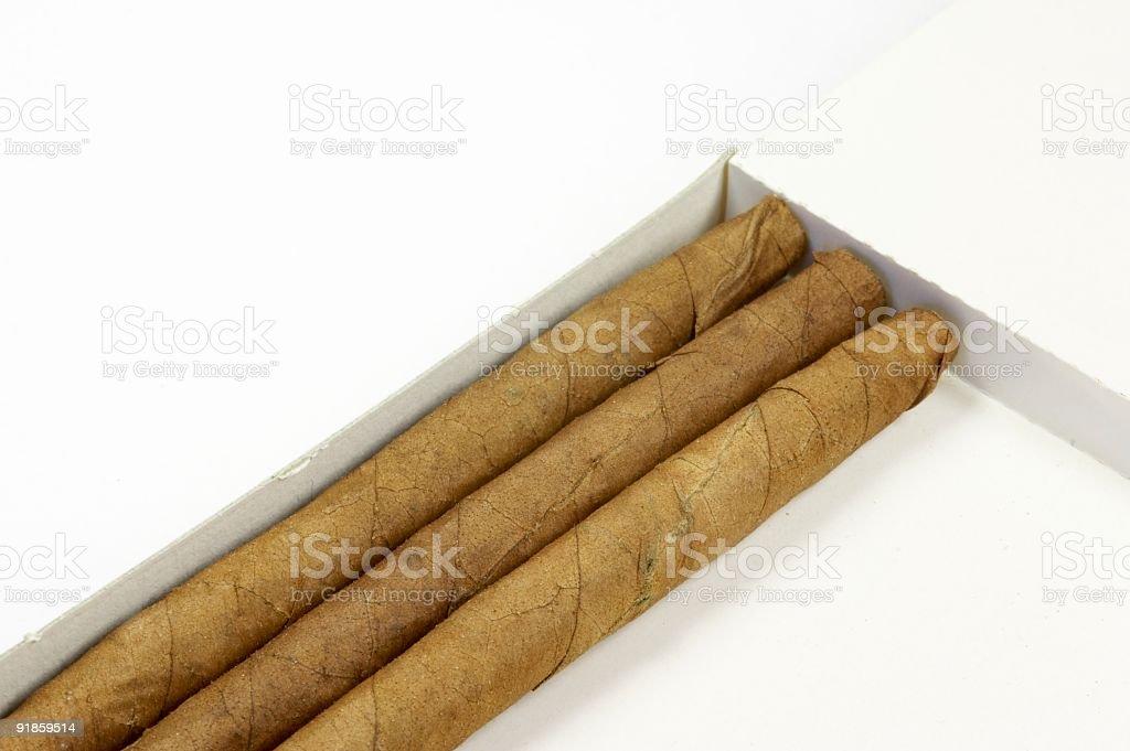 cigarillos in a box - landscape stock photo