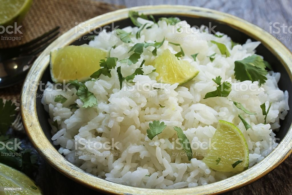 Cilantro Lime Rice stock photo