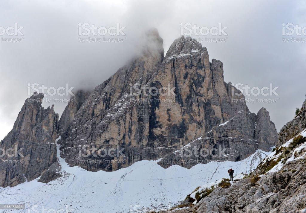 Cima Undici, Dolomites, Italy stock photo