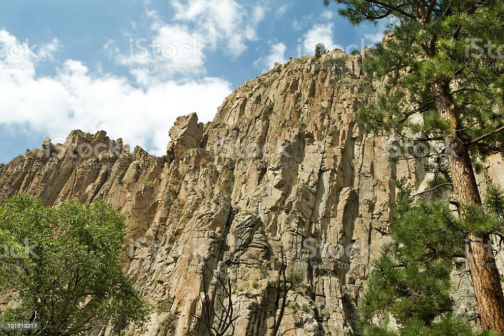 Cimarron Canyon State Park Palisade Cliff Sangre de Cristo Mountains royalty-free stock photo