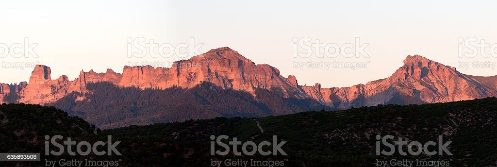 Cimarron Mountain Range stock photo