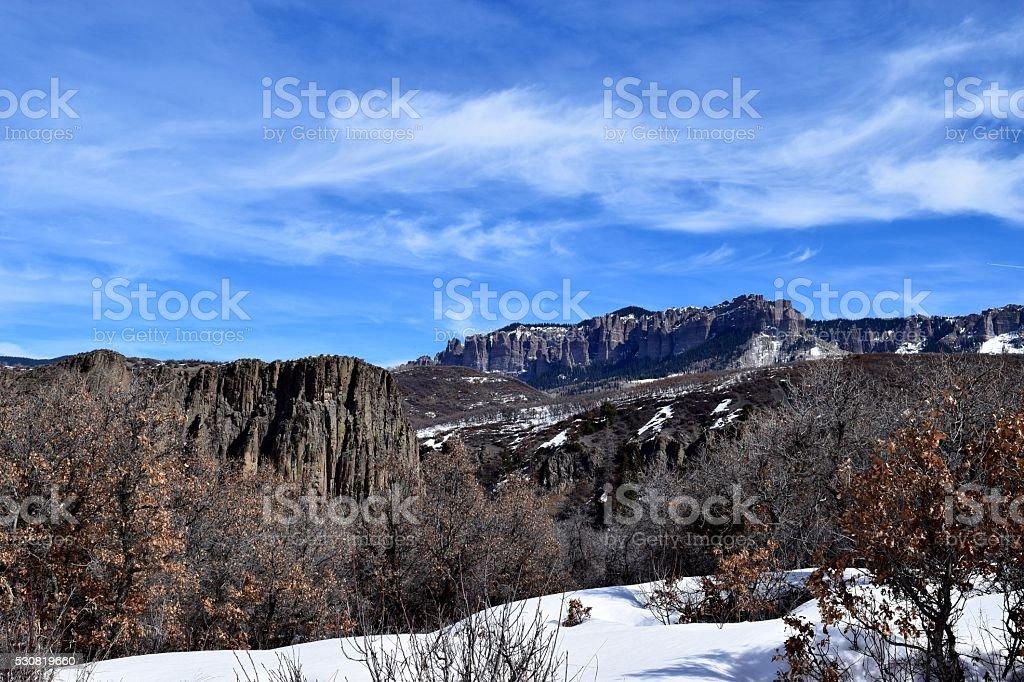 Cimarron Ridge Pinnacles stock photo