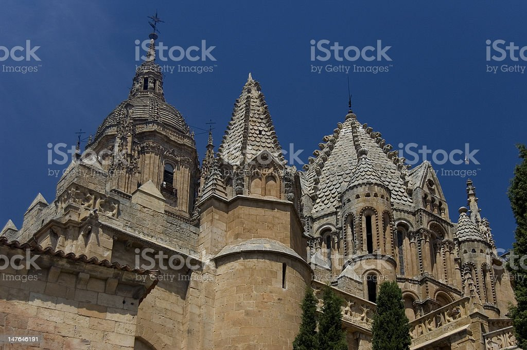 Cimborio Tower of Cock in the Old Cathedral. Salamanca. Spain stock photo
