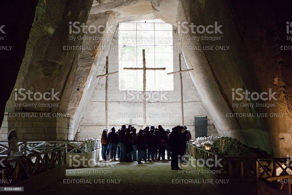 Cimitero delle Fontanelle, Fontanel cemetery, in Naples, Italy stock photo