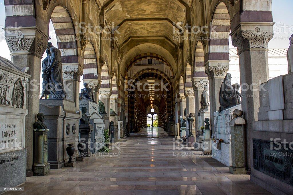 Cimitero Monumentale di Milano in Milano, Italy stock photo