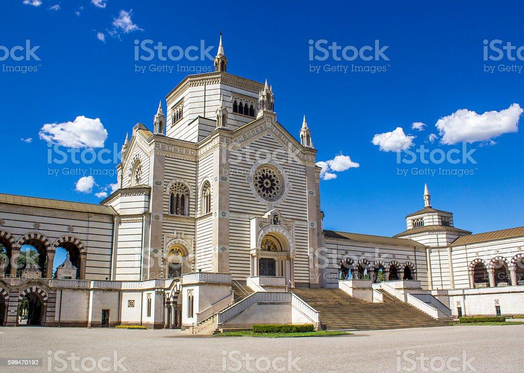 Cimitero Monumentale di Milano stock photo