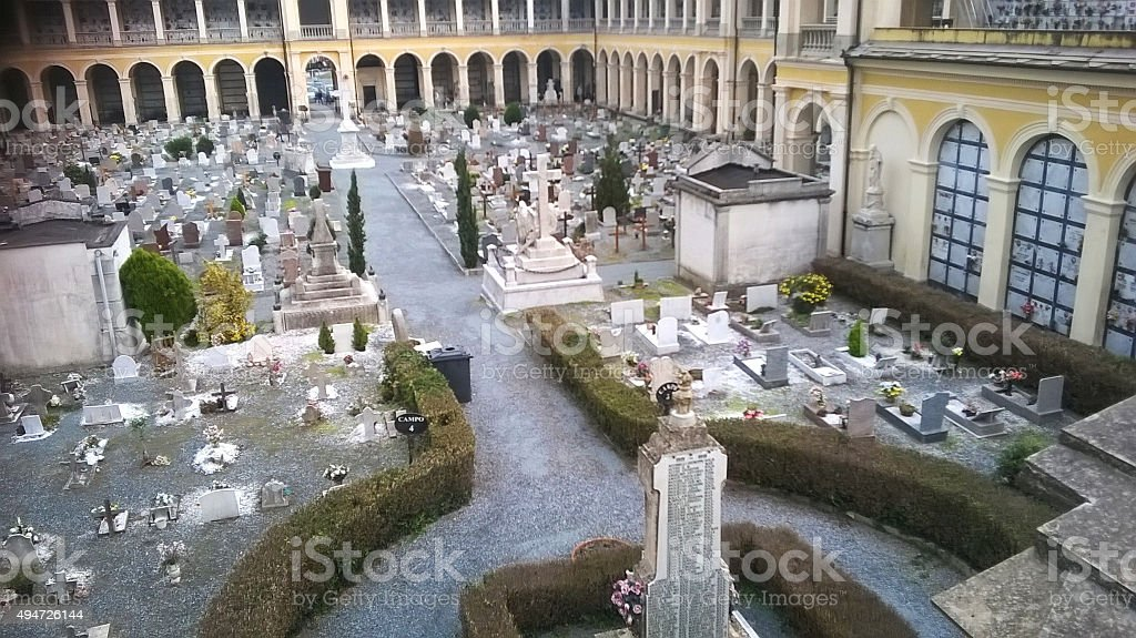 cimitero stock photo