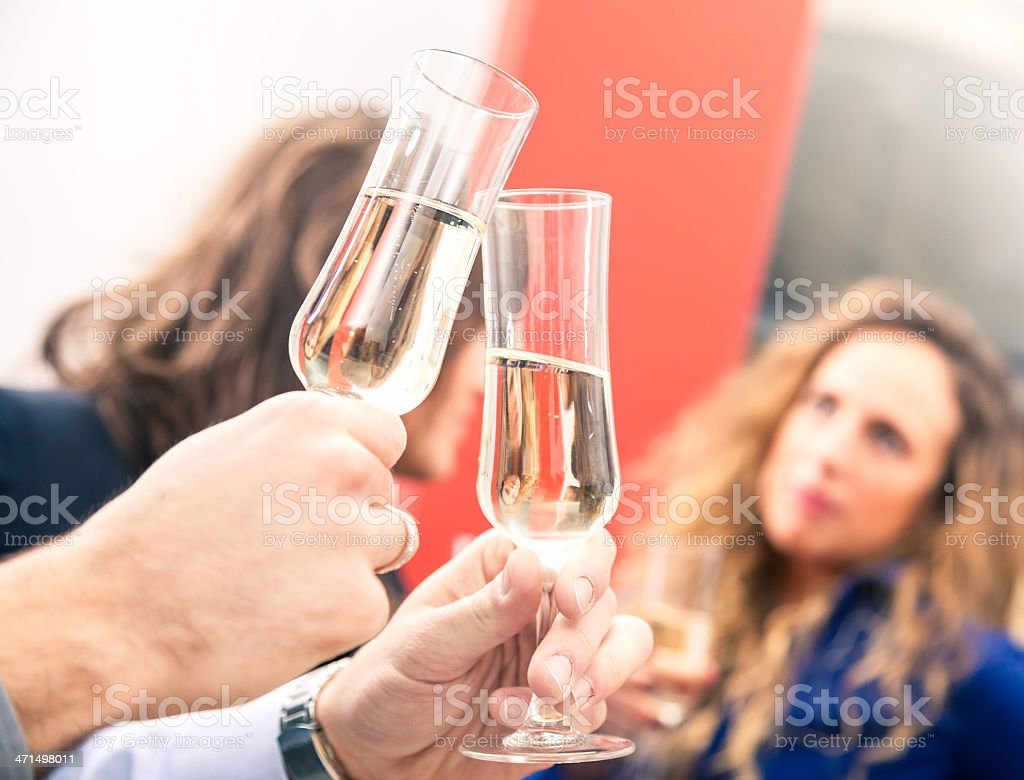 'CinCin' in an italian Bar royalty-free stock photo