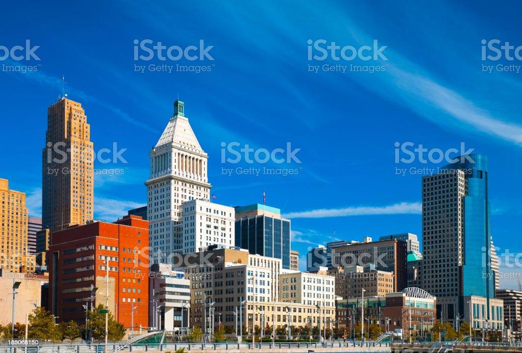 Cincinnati downtown buildings stock photo