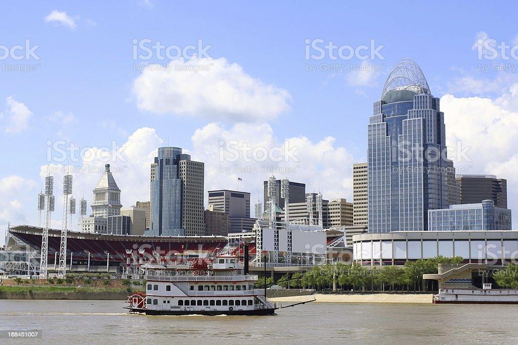 Cincinnati Riverfront Skyline stock photo