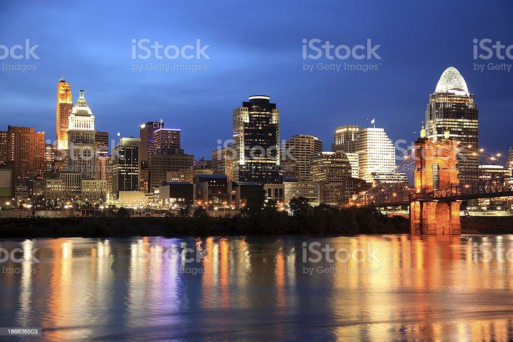 Cincinnati Skyline, Ohio stock photo
