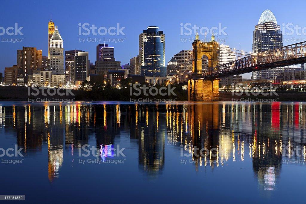 Cincinnati skyline. royalty-free stock photo