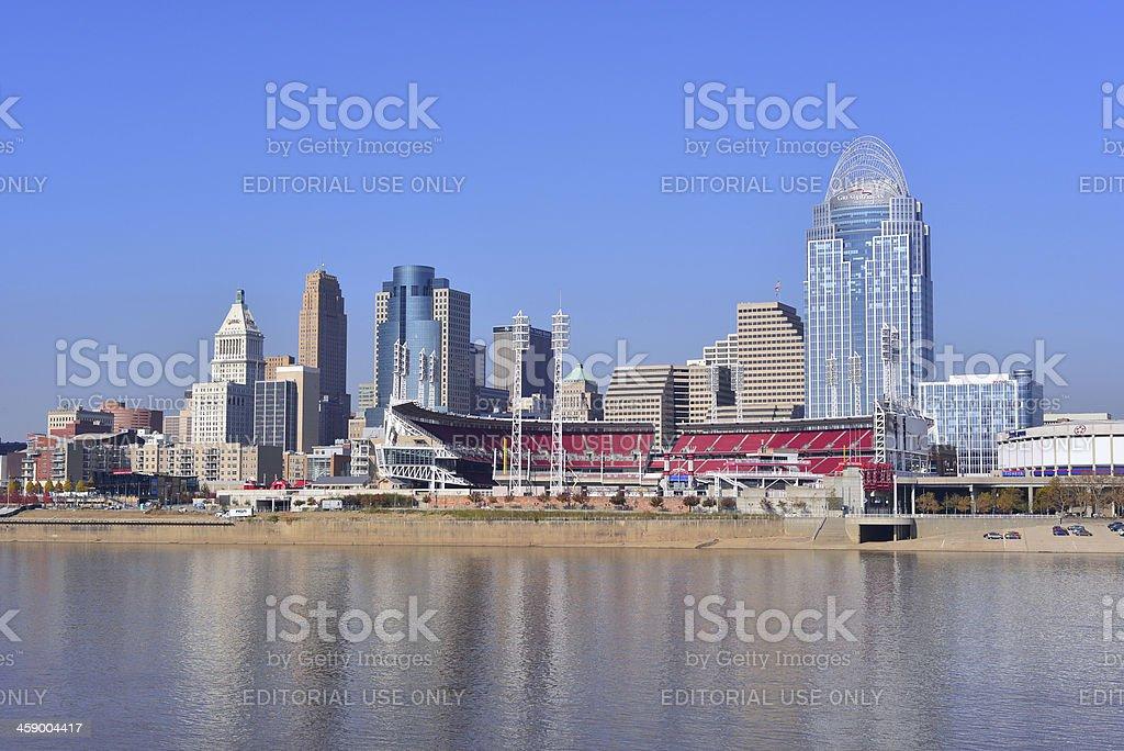 Cincinnati skyline royalty-free stock photo