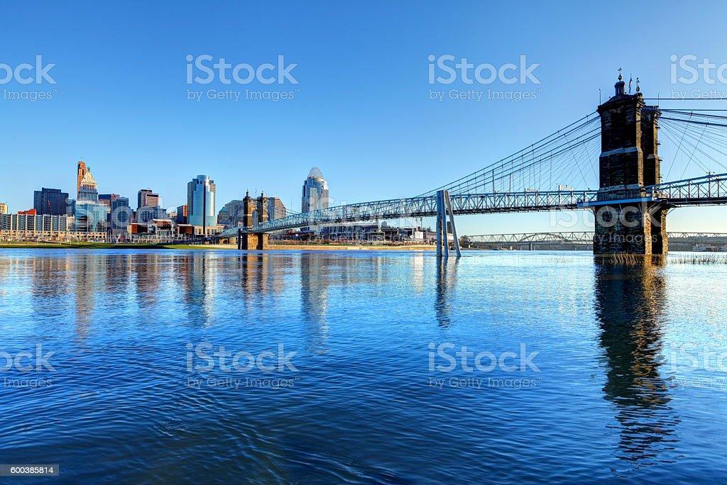 Cincinnati Skyline stock photo