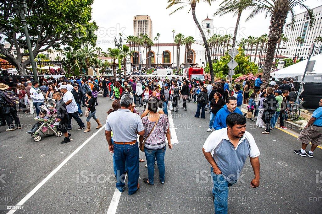 Cinco De Mayo Celebration in Los Angeles, USA royalty-free stock photo