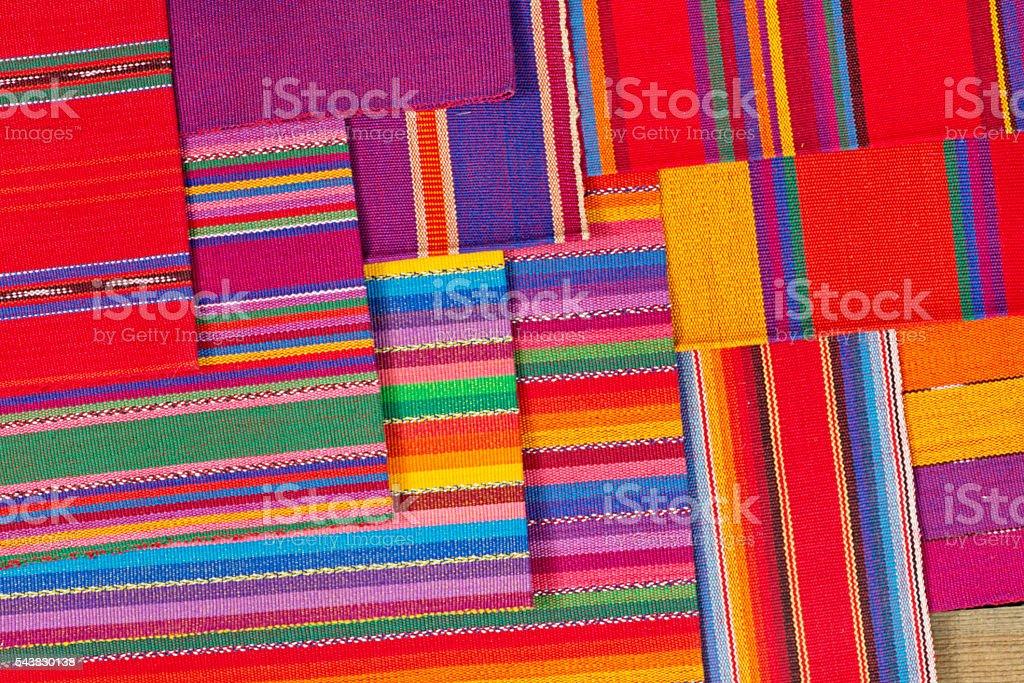 Cinco de Mayo Mexico Fiesta Sarape Textile Background stock photo