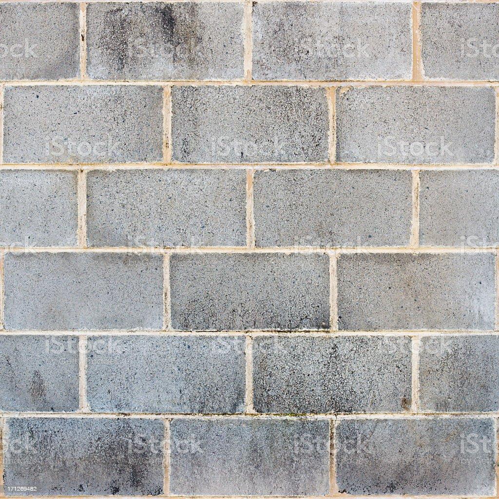 Cinder / Besser Block Wall - Seamless Tile stock photo