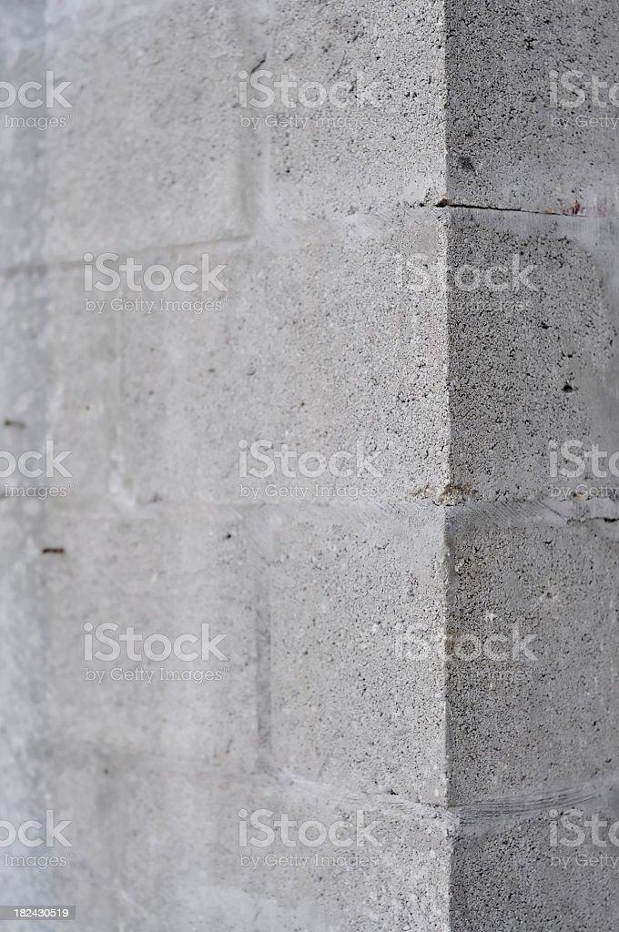 Cinder block wall royalty-free stock photo