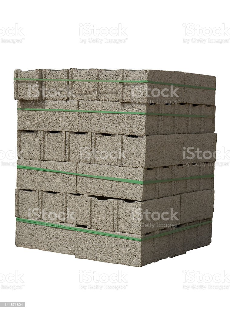 Cinder blocks royalty-free stock photo