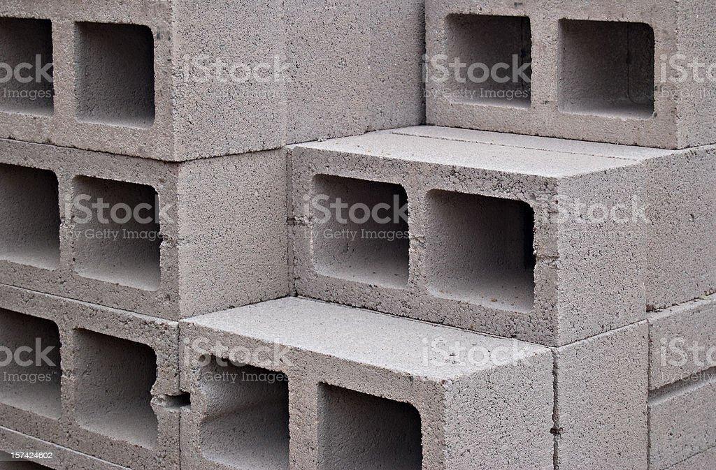 Cinder Blocks royalty-free stock photo
