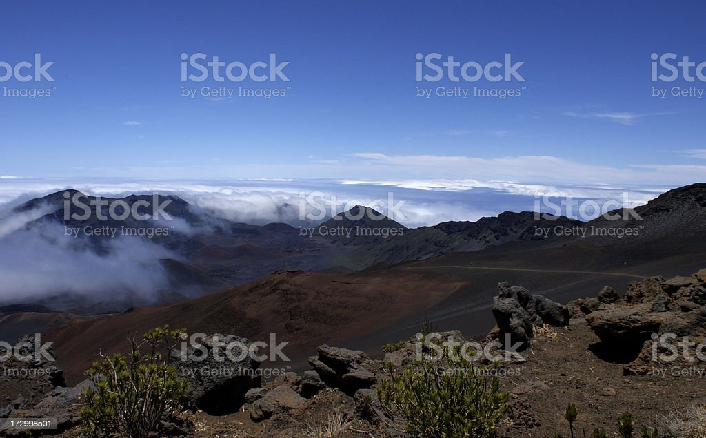 Cinder Cones in Haleakala National Park on Maui royalty-free stock photo
