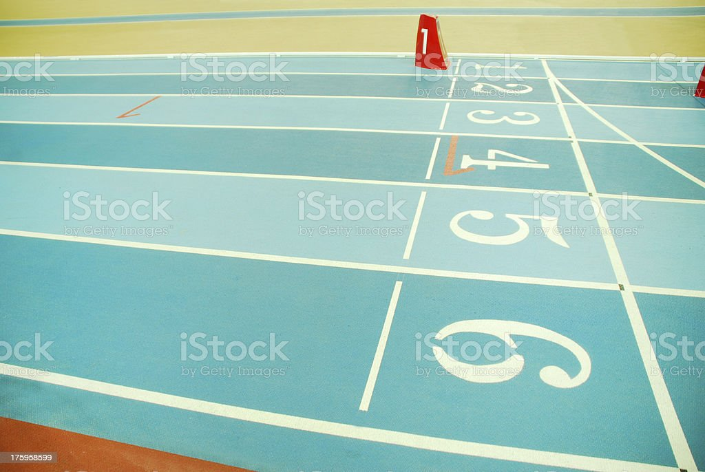 Cinder track royalty-free stock photo