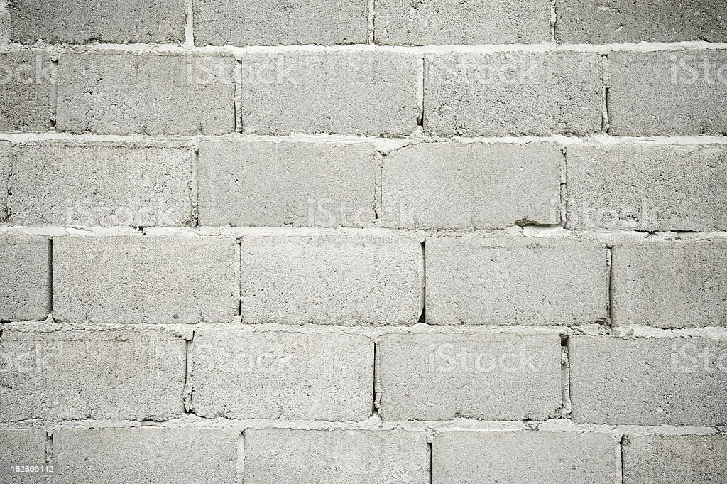 Cinderblock Wall Gritty Gray Background Full Frame stock photo