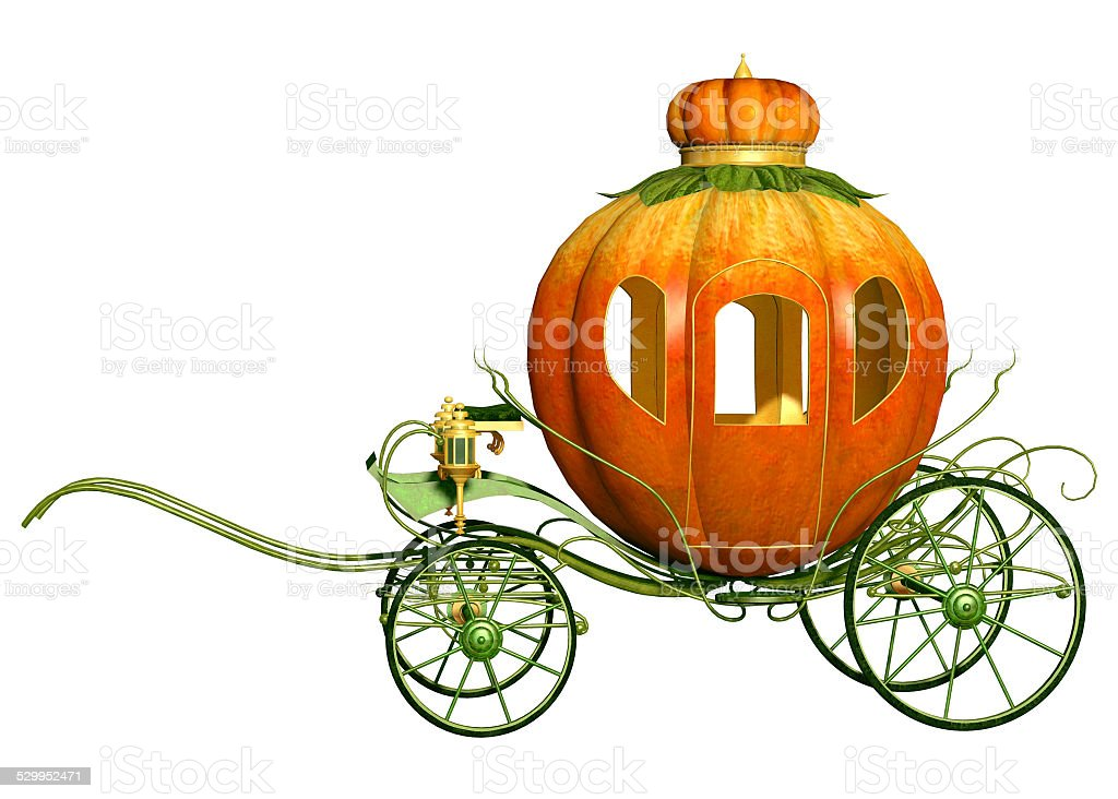 Cinderella fairy tale pumpkin carriage stock photo