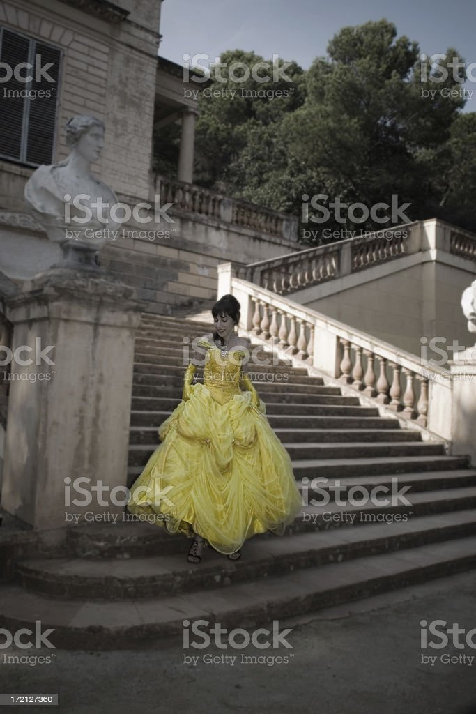 Cinderella on the Stairs IV stock photo