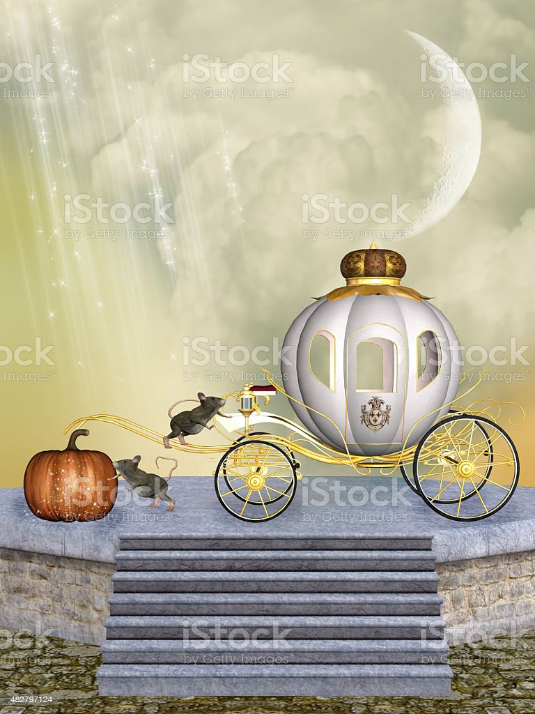 Cinderella's carriage stock photo