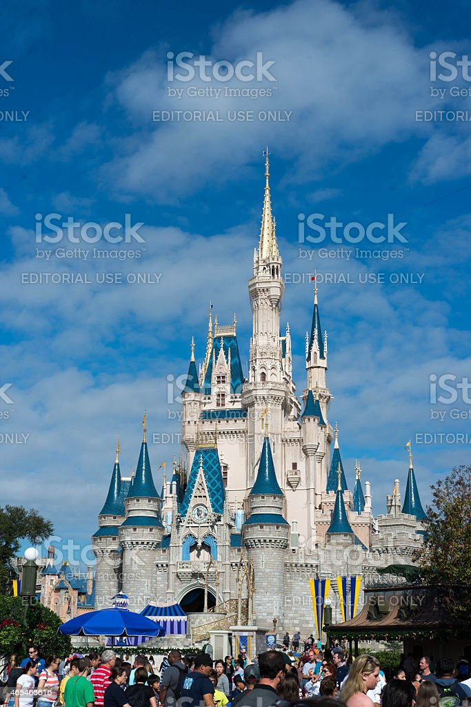 Cinderellas Castle at Walt Disney World stock photo