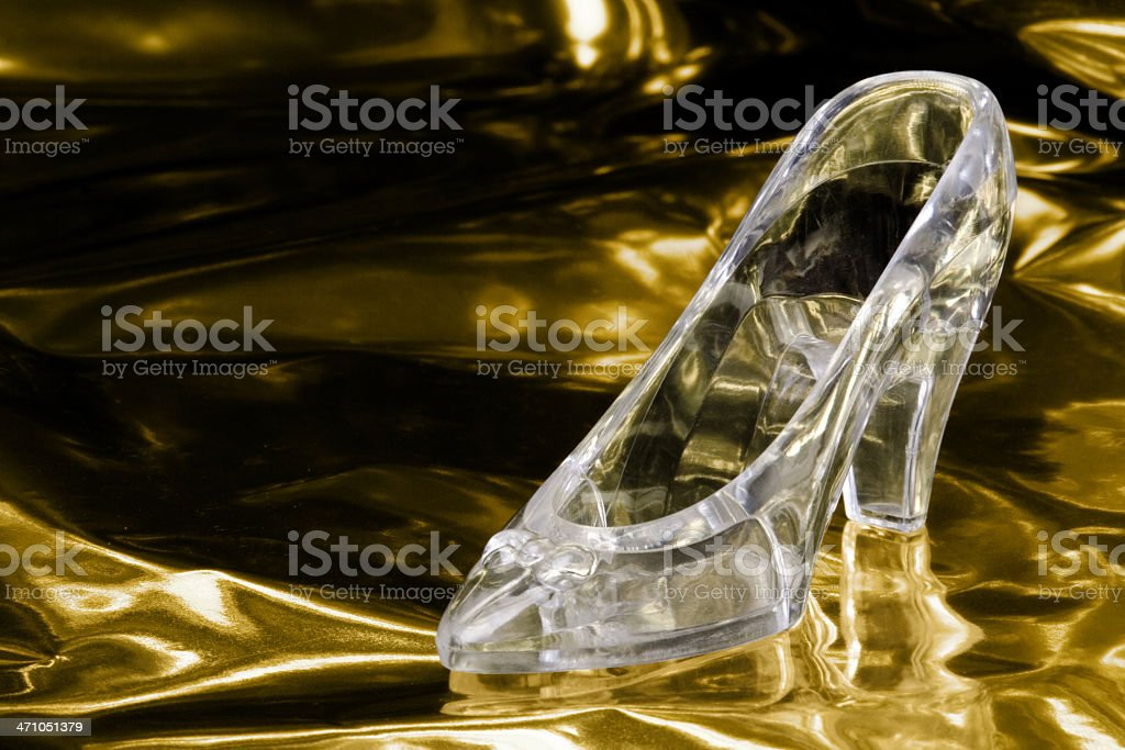 Cinderella's Glass Slipper stock photo