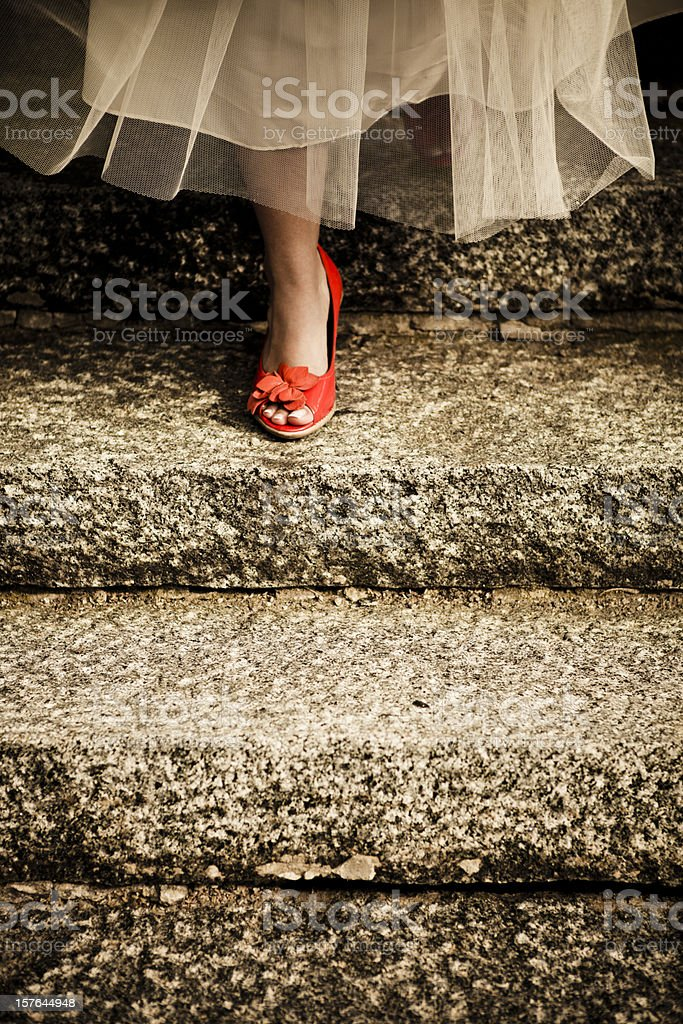 Cinderella's leaving stock photo