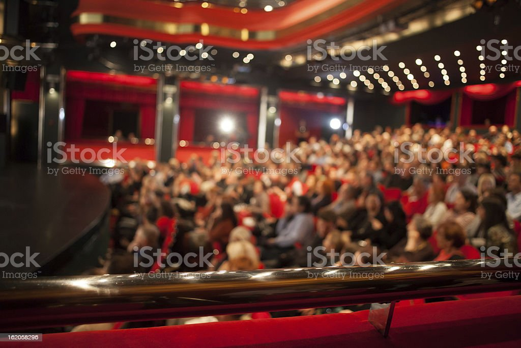 cinema audience stock photo