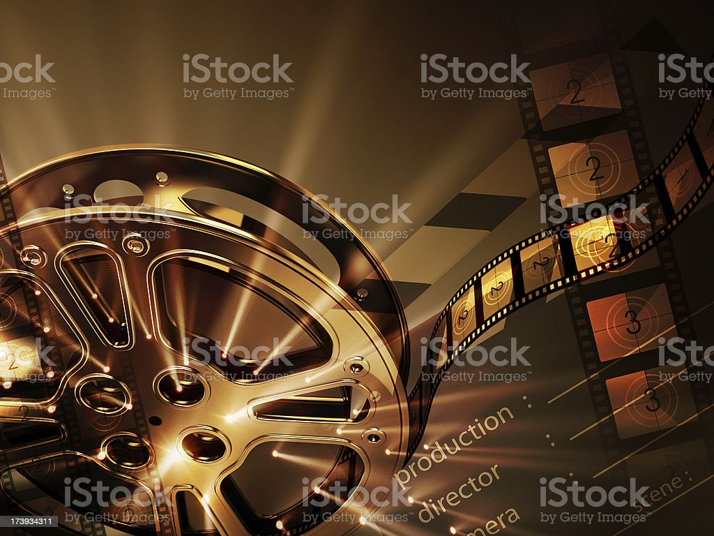 Cinema background (horizontal) stock photo