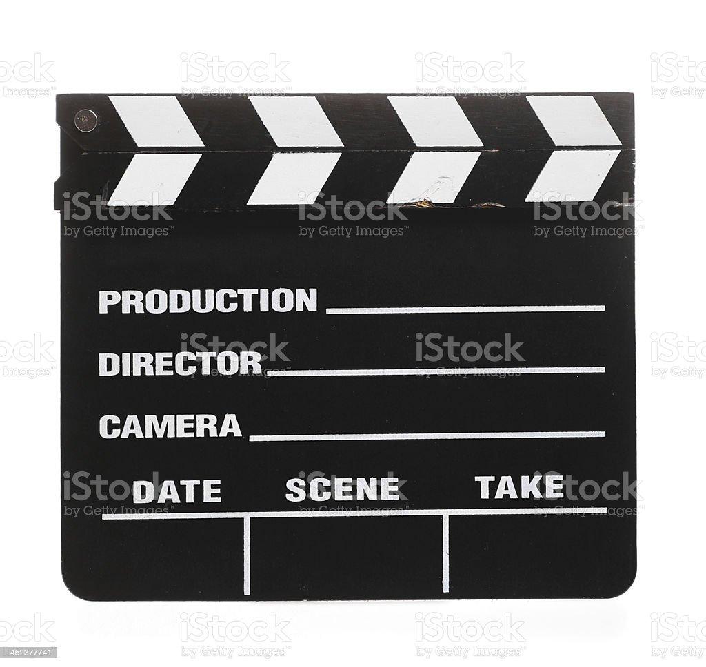 Cinema clap stock photo