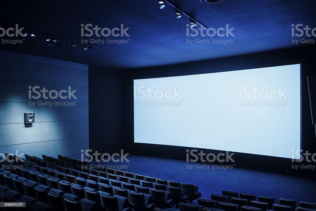 Cinema dark movie teather stock photo