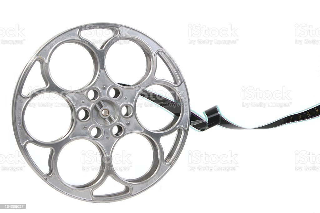 Cinema film reel stock photo