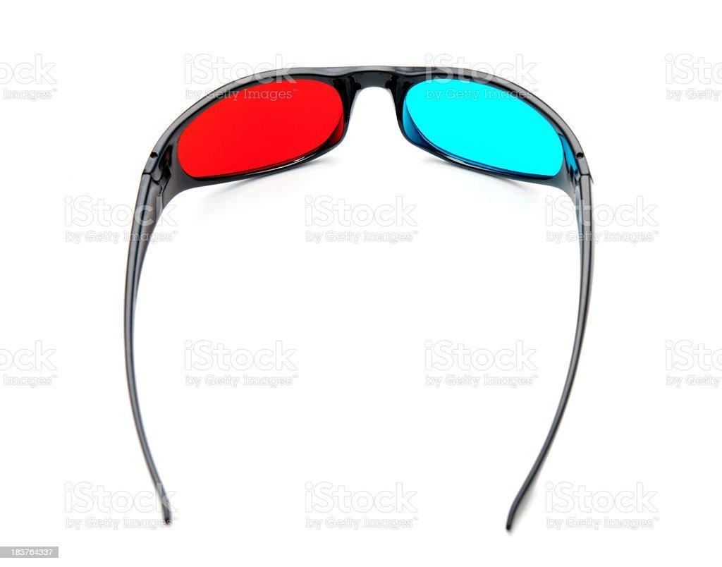 3-D cinema glasses royalty-free stock photo