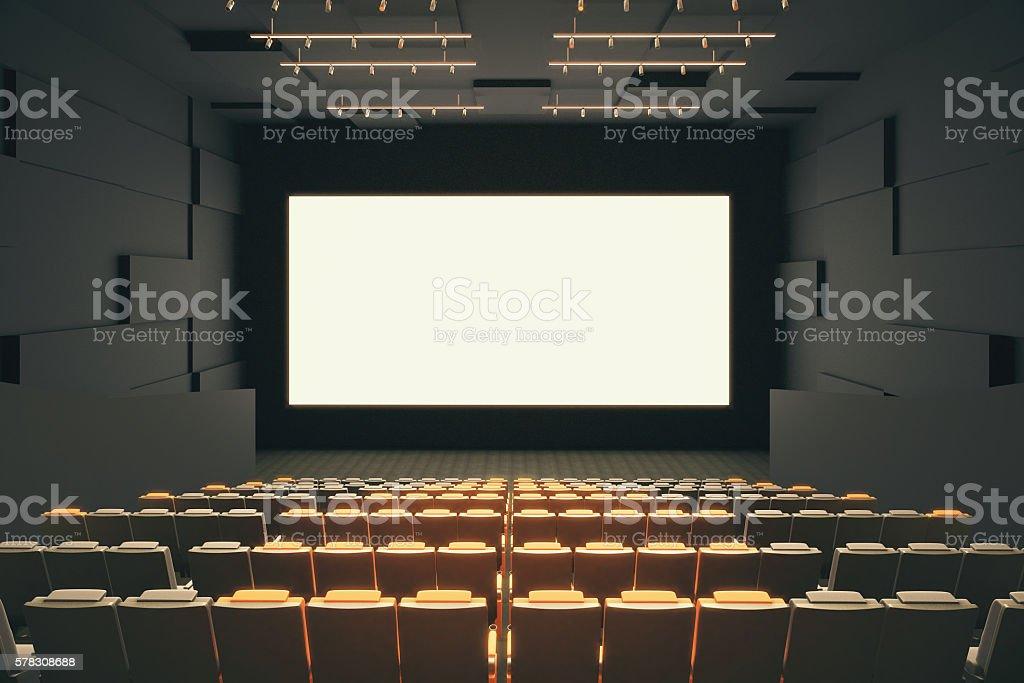 Cinema hall interior stock photo