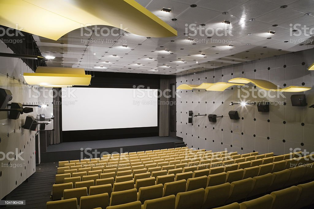 Cinema interior royalty-free stock photo